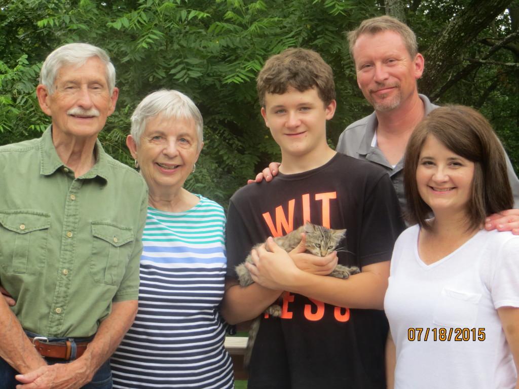 Dad, Mom, Doug, Kathy and Josh