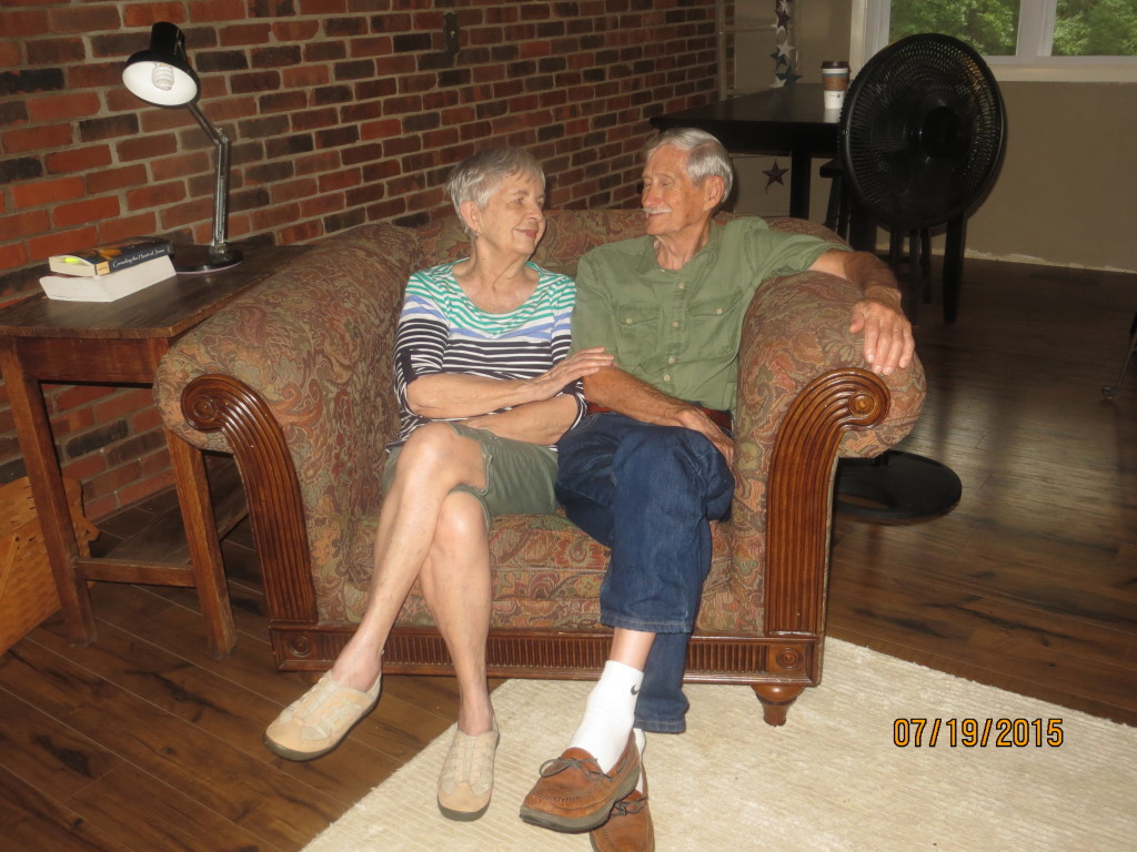 Mom and Dad in big chair, July 2015 (sweet)