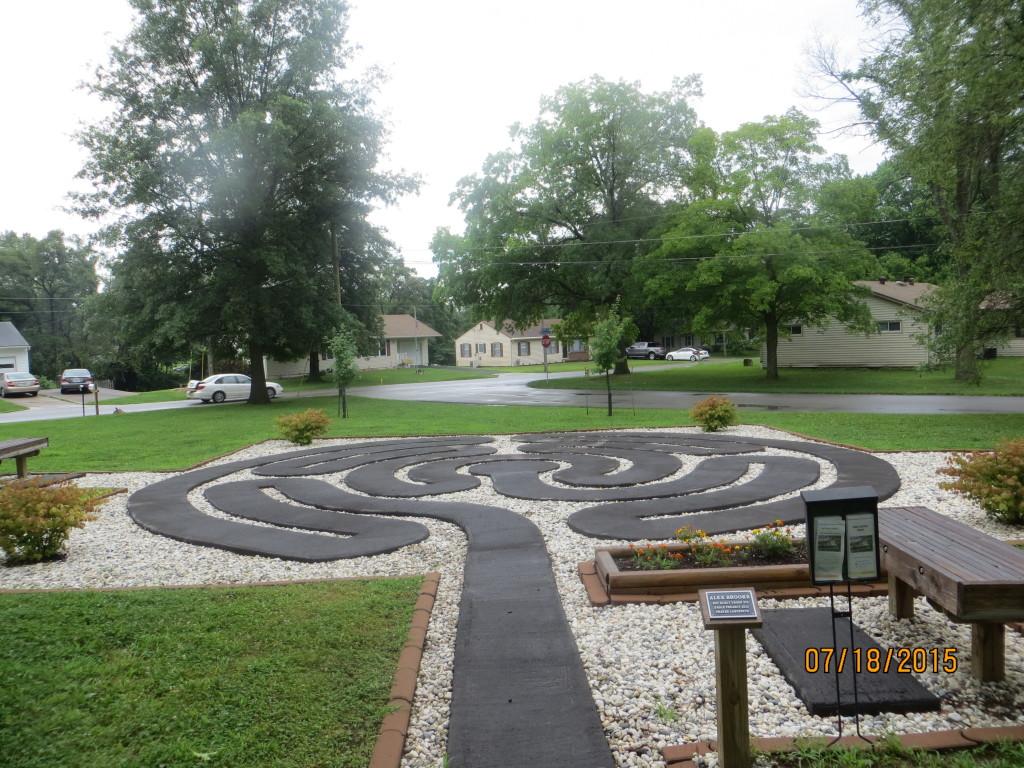 Prayer labyrinth, July 2015