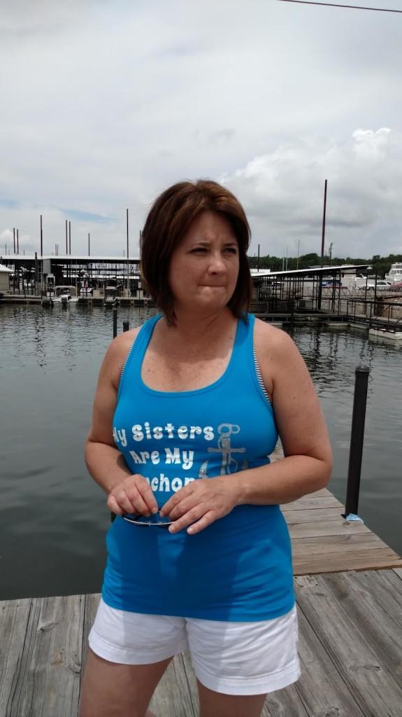 Kathy on the dock (blog)
